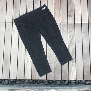 FILA   Charcoal Cropped Legging